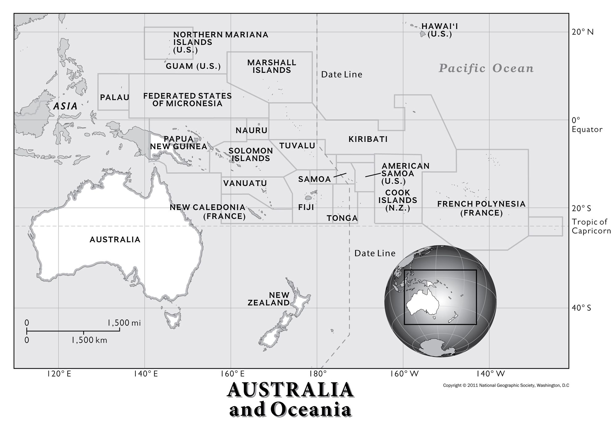 australia and oceania  physical geography