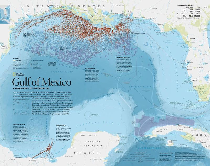 Gulf of Mexico: A Geography of Offs Oil   National Geographic ... Map Of The Gulf Mexico on the rocky mountains map, gulf of mexico ocean depth map, the country of mexico map, gulf of mexico and united states map, chesapeake bay map, gulf of mexico cuba map, gulf of campeche mexico map, gulf of mexico coastal map, the atlantic coastal plain map, gulf mexico water depth map, the norway map, the gulf of japan, the indonesia map, the swamp map, gulf of mexico floor map, pacific ocean map, the valley of mexico map, the 50 states map, gulf of mexico on map, the city of mexico map,