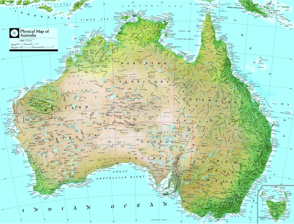 australia geophysical map national geographic society