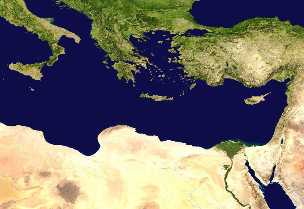 Eastern Mediterranean Sea | National Geographic Society
