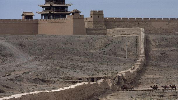 """<p class=""""p1"""">Jiayuguan Pass is the first pass at the western end of the Great Wall in Gansu Province, China. Jiayuguan was a key waypoint on the ancient Silk Road.</p>"""