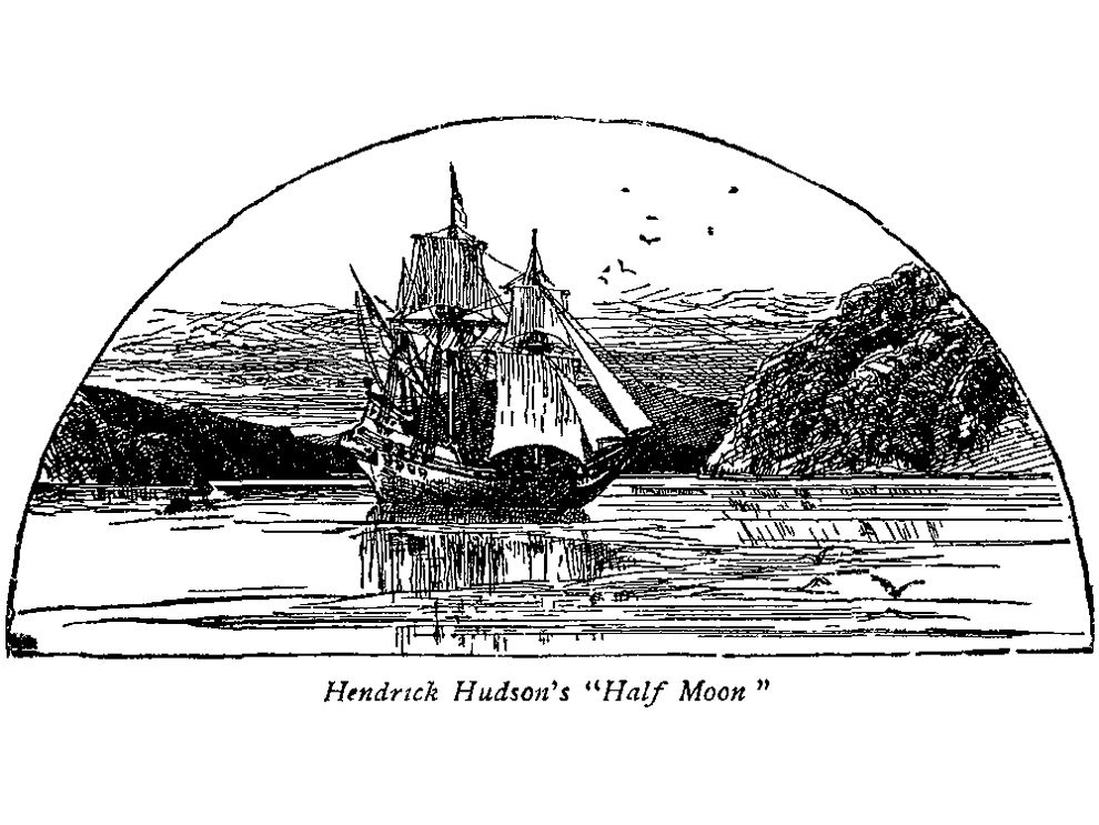 in 1609 the english explorer henry hudson navigated the river he called the mauritius in his ship the half moon today the river is called the hudson