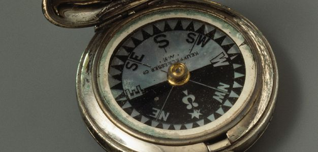Maritime Lamps & Lighting 2019 Fashion Rare Vintage Marine Brass Compass Light Complete Range Of Articles