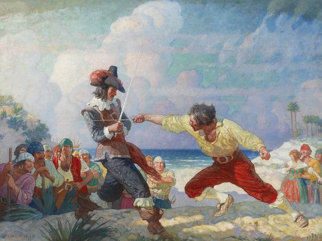 Treasure Island Watercolor