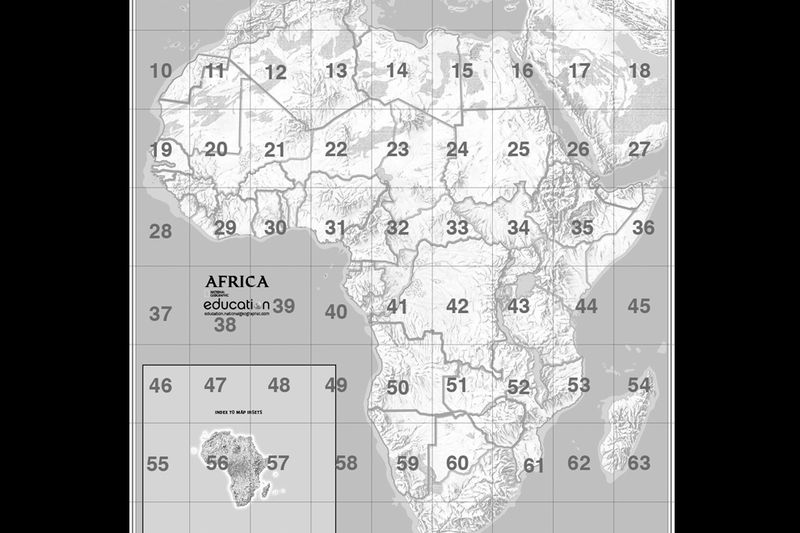 Mapmaker kits national geographic society africa mapmaker kit gumiabroncs Gallery