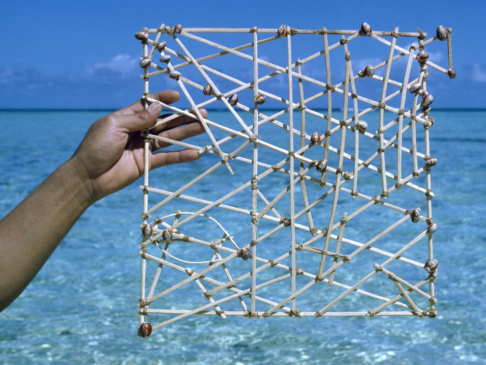 Marshallese Stick Chart - National Geographic Society