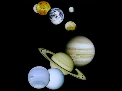 <p>Photo: Planets in solar system</p>