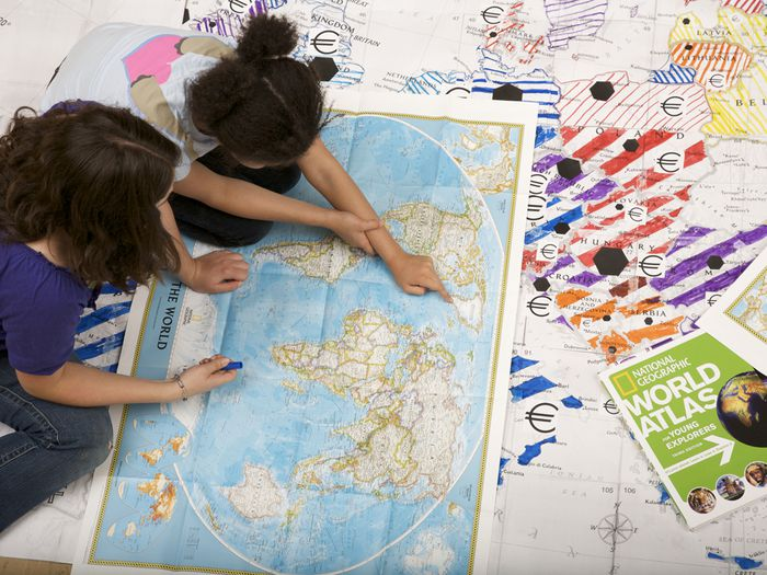Photo: Mapmaker kits in the classroom.
