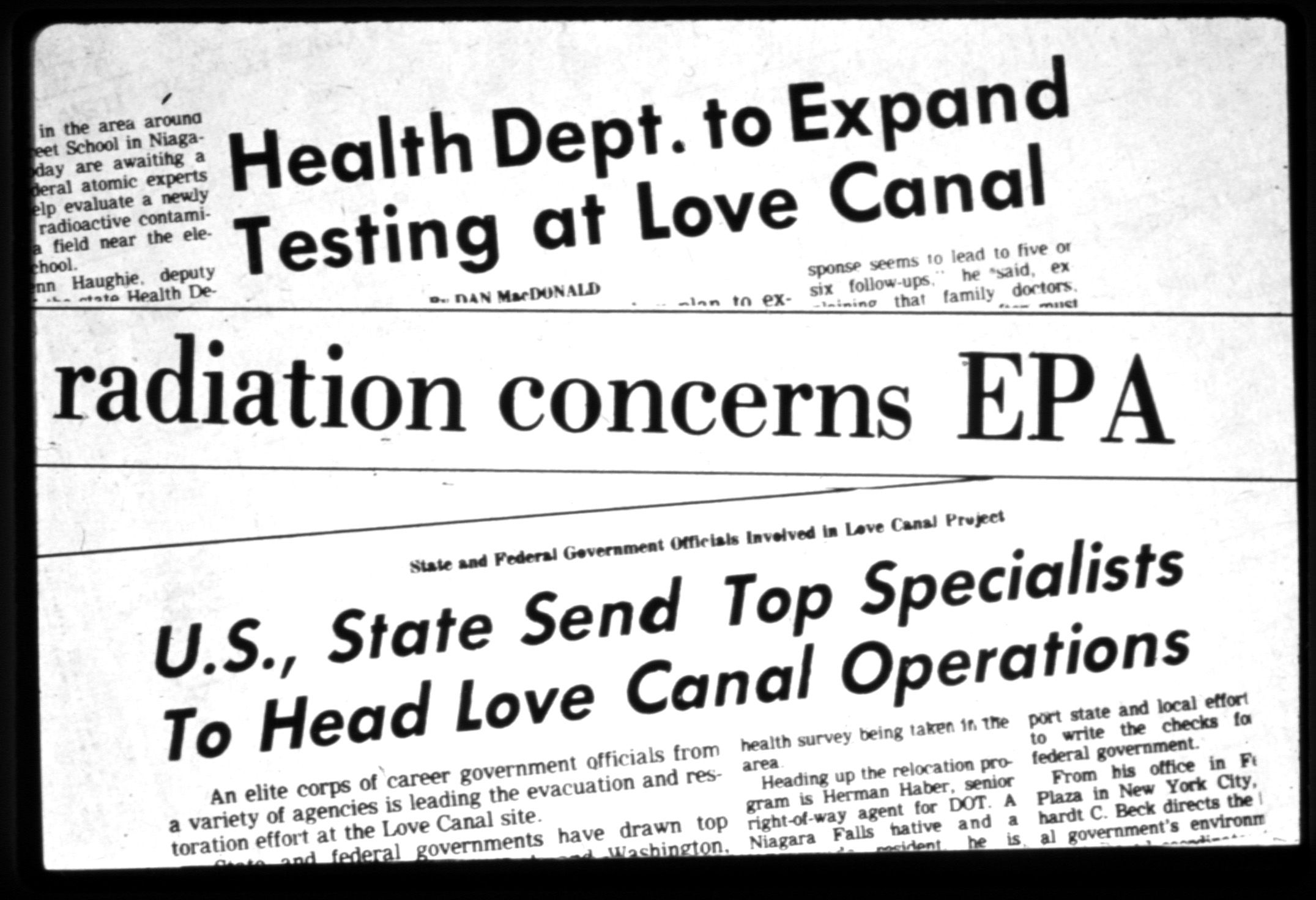 Superfund Map State Of Emergency At Love Canal National Geographic Society