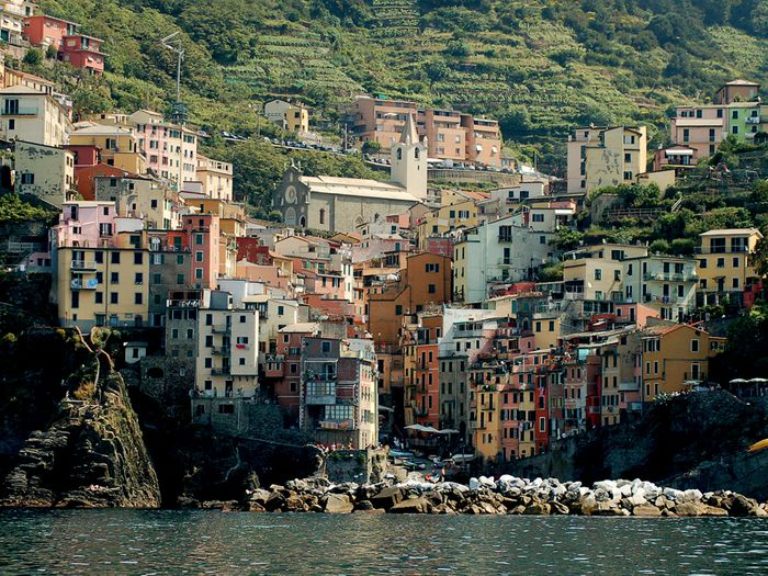 Photo:  A coastal city of Cinque Terre, Italy offers great views