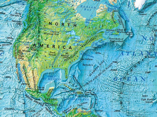 North America National Geographic Society - Map of mountain ranges in the united states