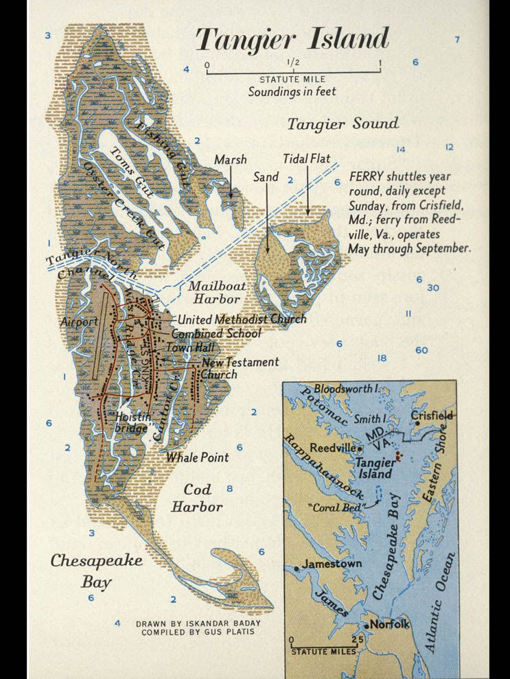 Tangier Island Virginia Map.Tangier Island National Geographic Society