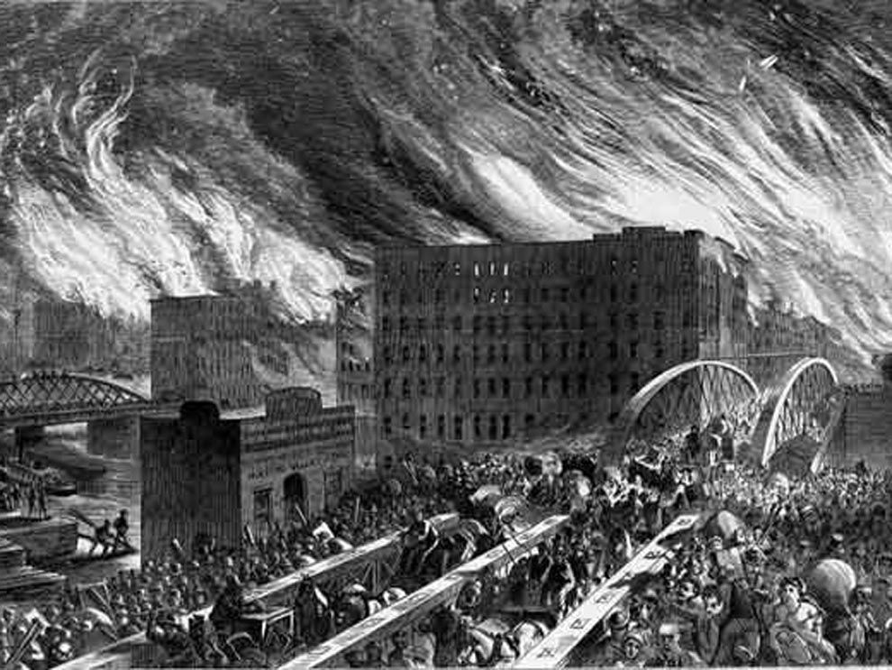 Image result for great chicago fire 1871