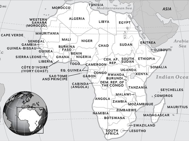 national geographic education africa map