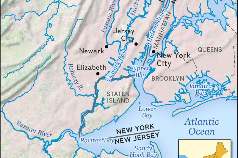Maps National Geographic Society - Hudson river on us map