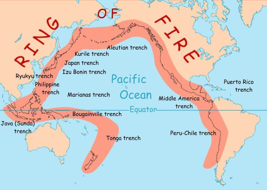 Ring Of Fire National Geographic Society - Us active fire map
