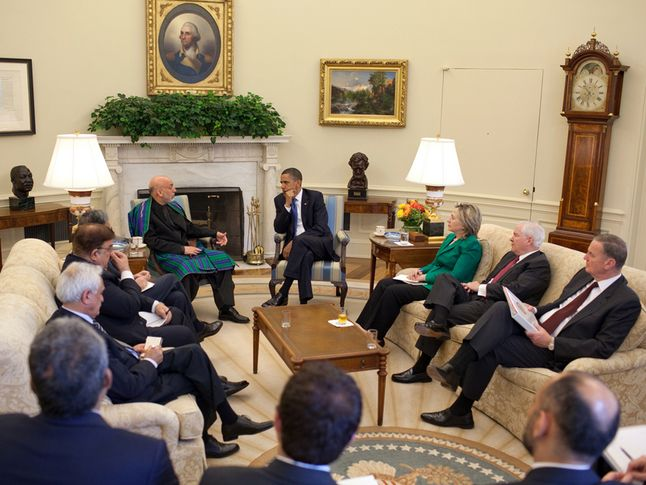 Karzai Meets with Obama