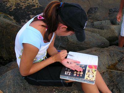 Photo: Student Doing Marine Science