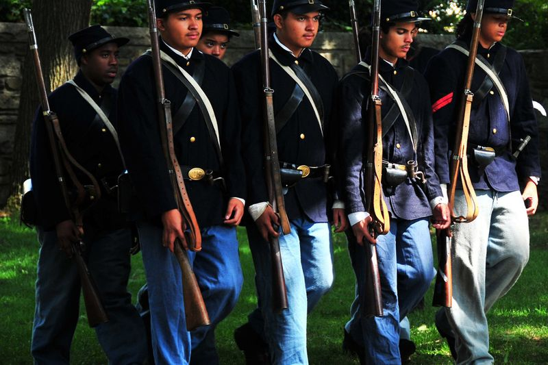 """a look at the african american troops in the civil war the 54th massachusetts """"now or never"""": african- american troops in the  two of his sons, charles and lewis, enlisted with the 54th massachusetts usct his hopes  many black men who fought in the civil war did so with the hope of someday."""