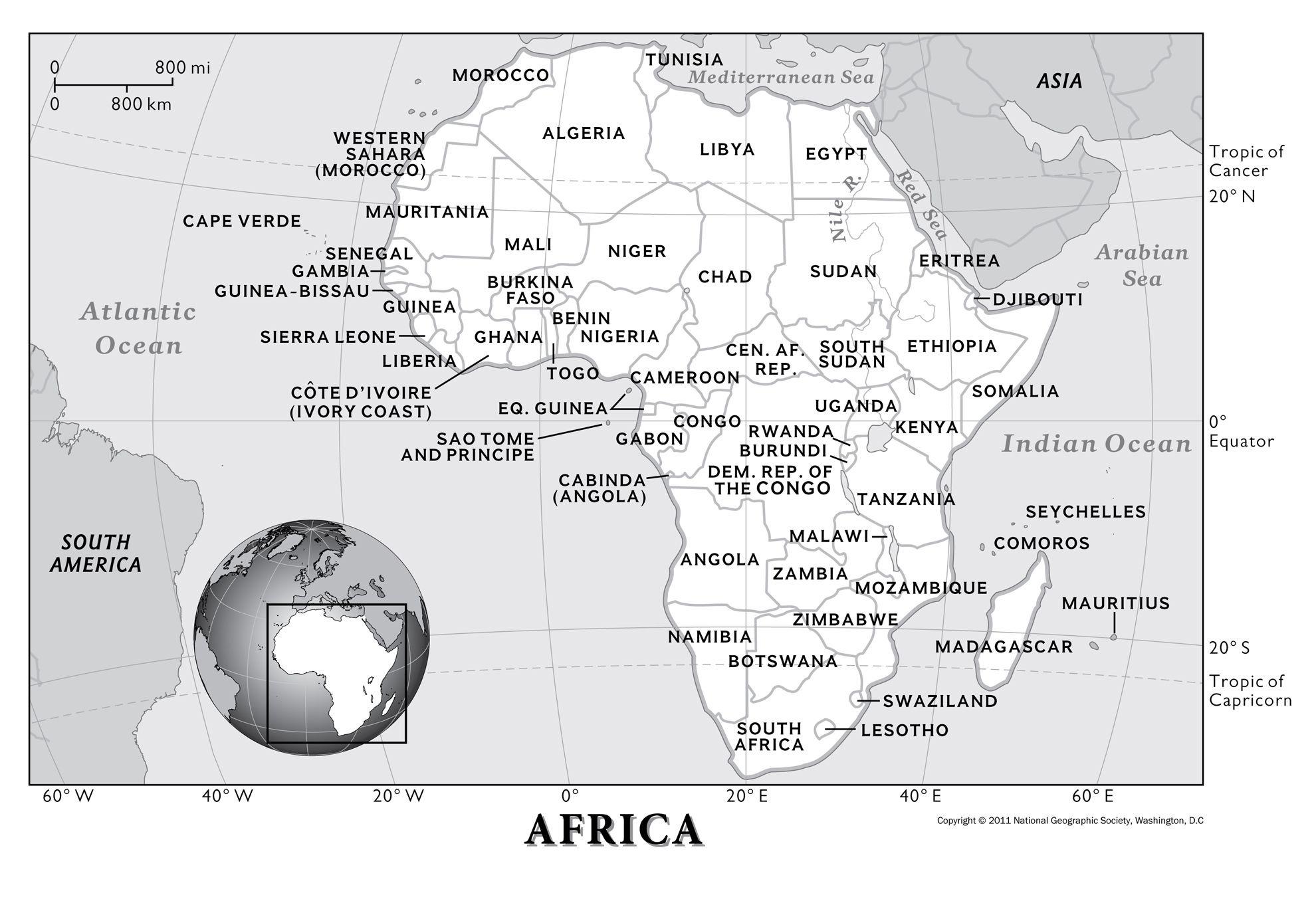 Africa Physical Geography National Geographic Society - The physical world continents and oceans