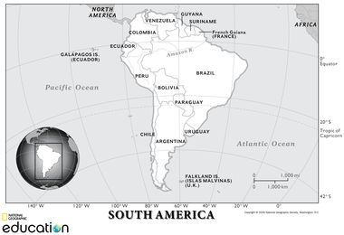 South America Physical Geography National Geographic Society