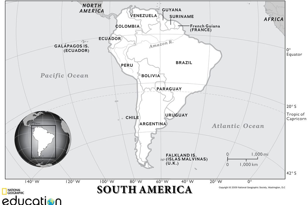 South America: Physical Geography | National Geographic Society on map of south america paraguay river, latin america uruguay river, map of south america orinoco river, map of rivers and rio grande parana, map of south america amazon river, map of south america uruguay river,