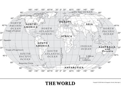 Printable World Map Continents Crafts Pinterest Geography - World map continents and oceans black and white