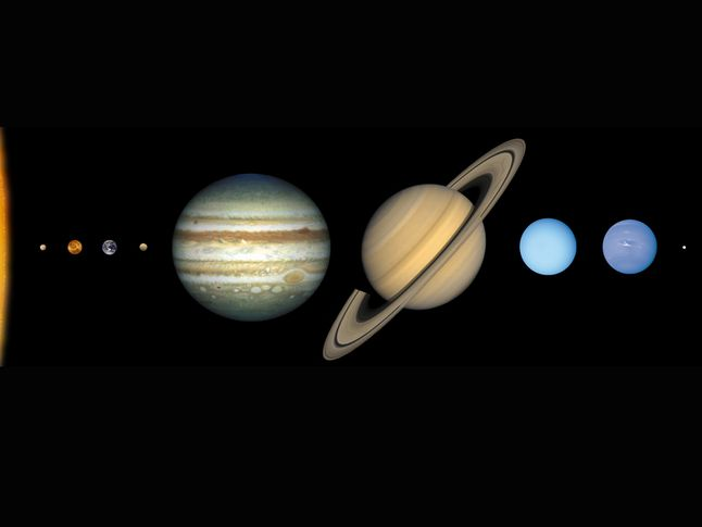 all planet sizes