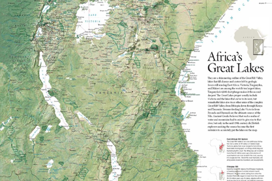 Lakes Of Africa Map.Africa And The Great Lakes Region National Geographic Society