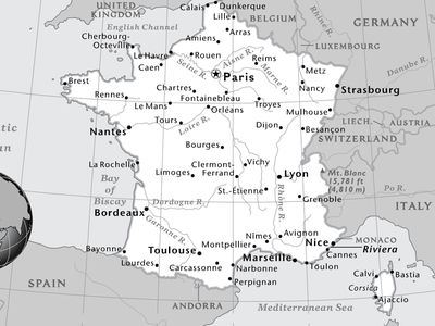 Map Of France And Luxembourg.1 Page Maps National Geographic Society