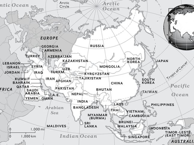 black and white world map with countries labeled