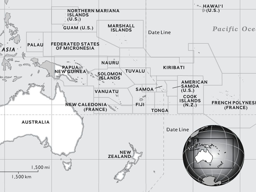 Australia And Oceania National Geographic Society - Map oceania