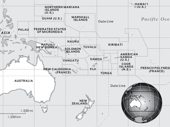 Australia And Oceania National Geographic Society - Political map of oceania