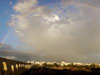 Photo: Aqueduct in Larnaca, Cyprus