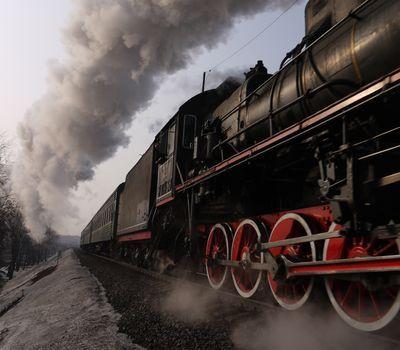 Photo: Soviet Class Er locomotive, Moscow
