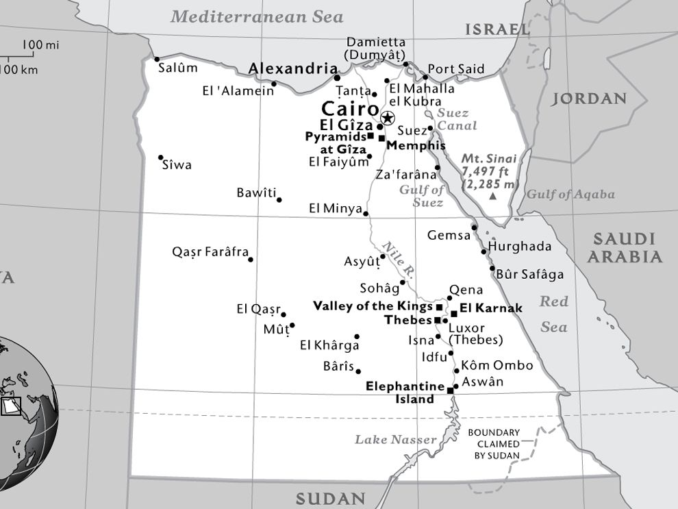 UK Grants Independence To Egypt National Geographic Society - Map of egypt national geographic
