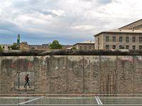 Photo: A sneak peak behind the Berlin Wall.