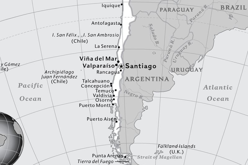 Maps National Geographic Society - Osorno map