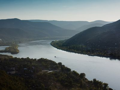 Photo: A river bend in Hungary.