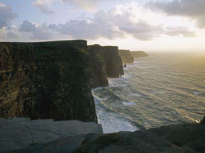 Photo: Cliff at twilight