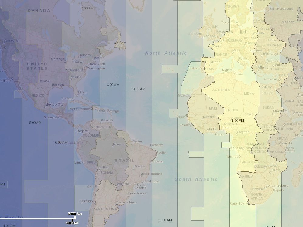 North American Time Zones Created