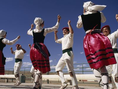 Photo: A group of people dancing