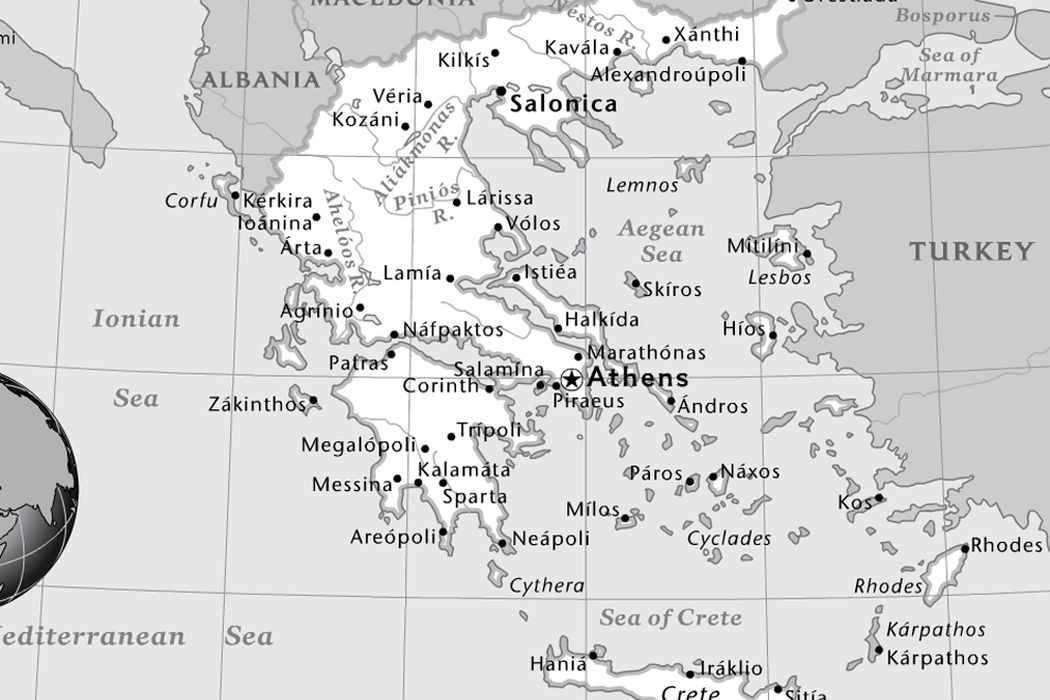 Ancient Greece Map With Cities.Ancient Greece National Geographic Society