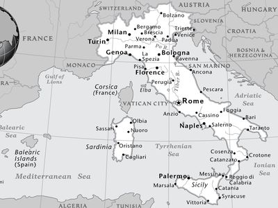 Black And White Map Of Italy.Maps National Geographic Society