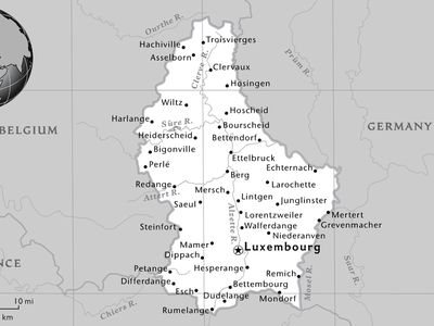 Map Of Germany And Luxembourg.Maps National Geographic Society