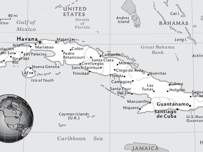 Black And White Map Of The Caribbean Maps | National Geographic Society