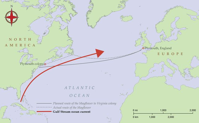 The Mayflower Route National Geographic Society