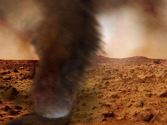 Artist mars dust devils