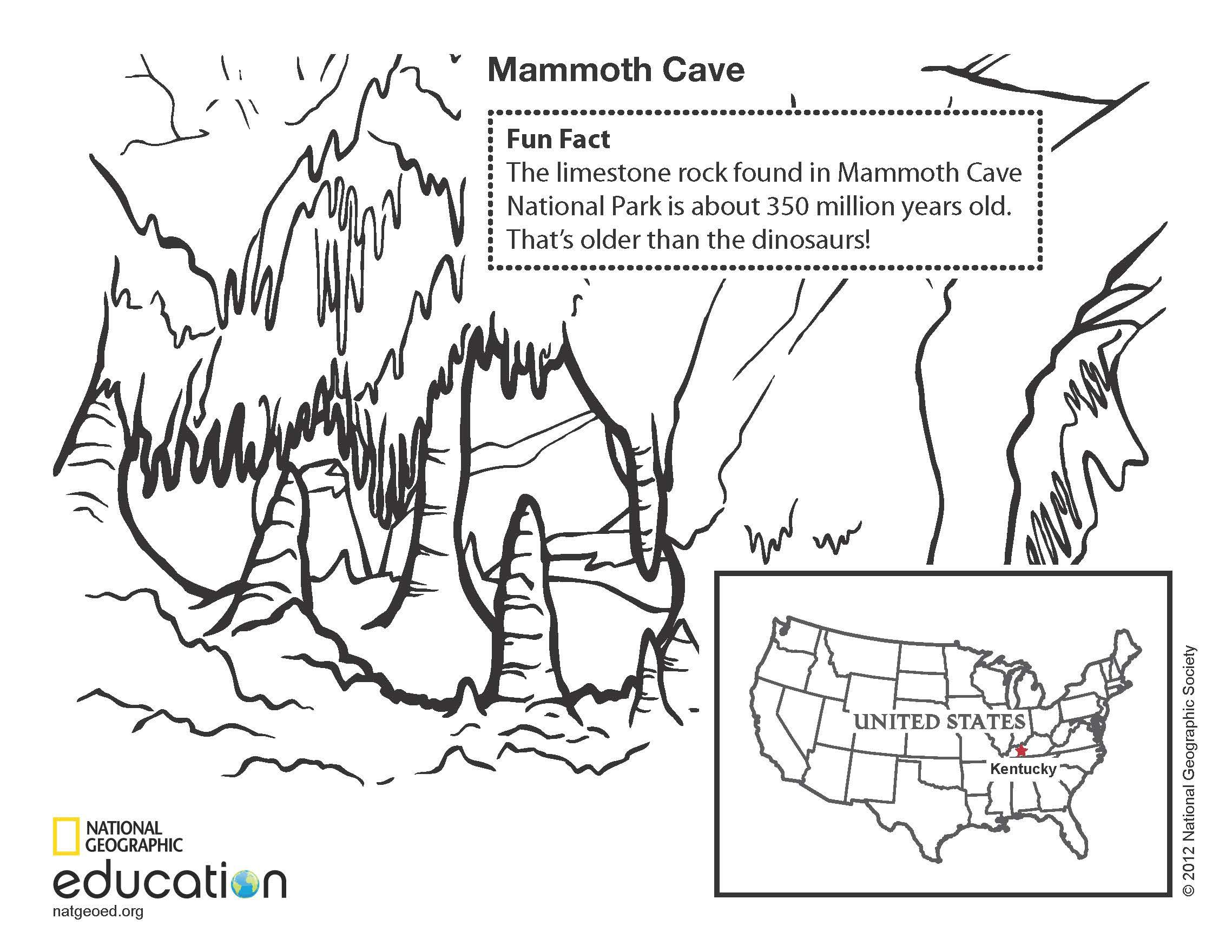 limestone caves coloring pages - photo#3