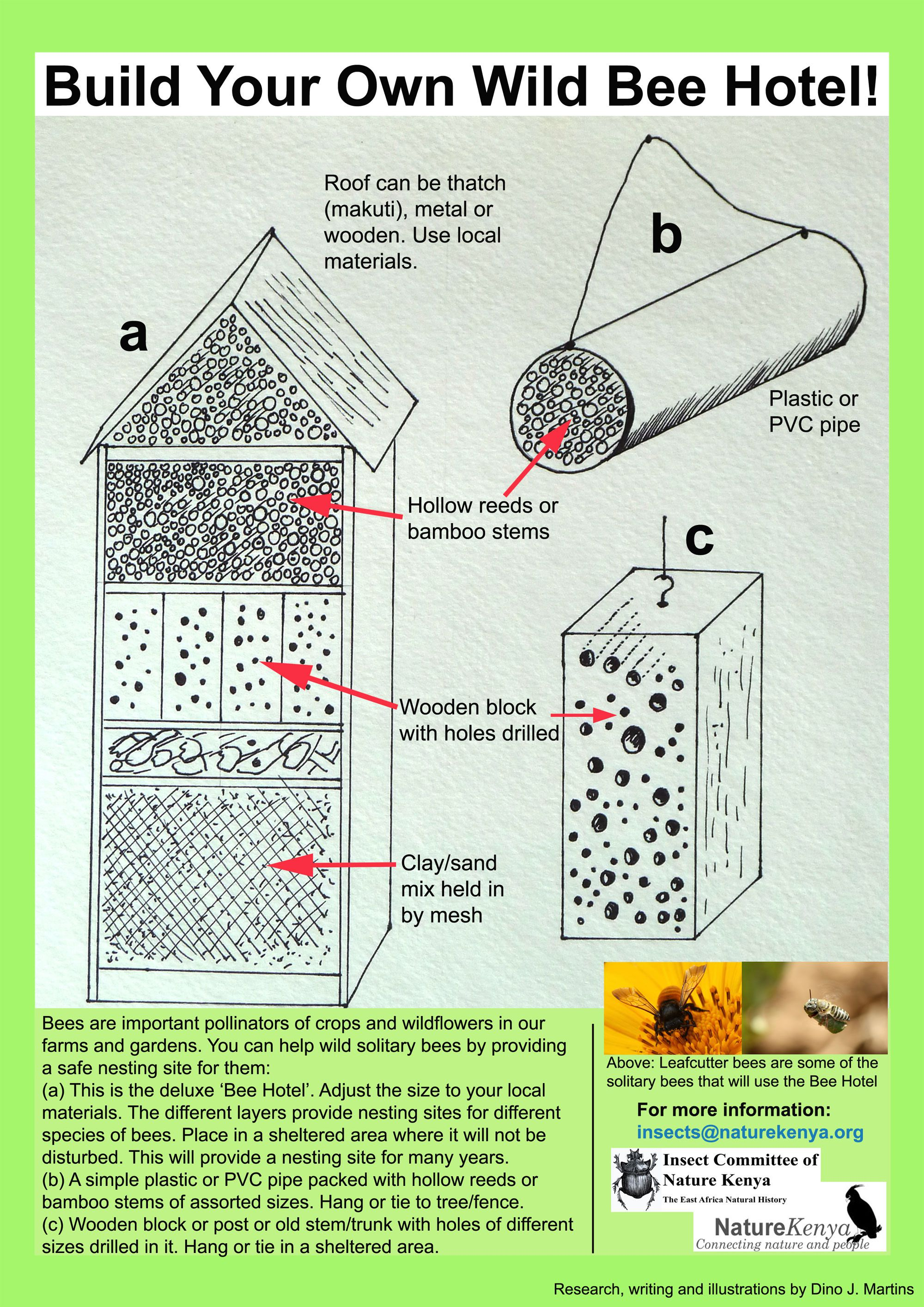 Build your own bee hotel national geographic society for Build your house